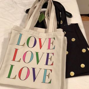 Kate Spade Canvas Love Book Tote - PERFECT GIFT!